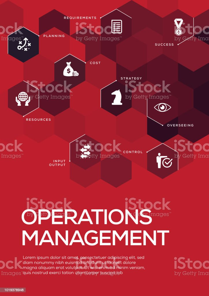Operations Management. Brochure Template Layout, Cover Design