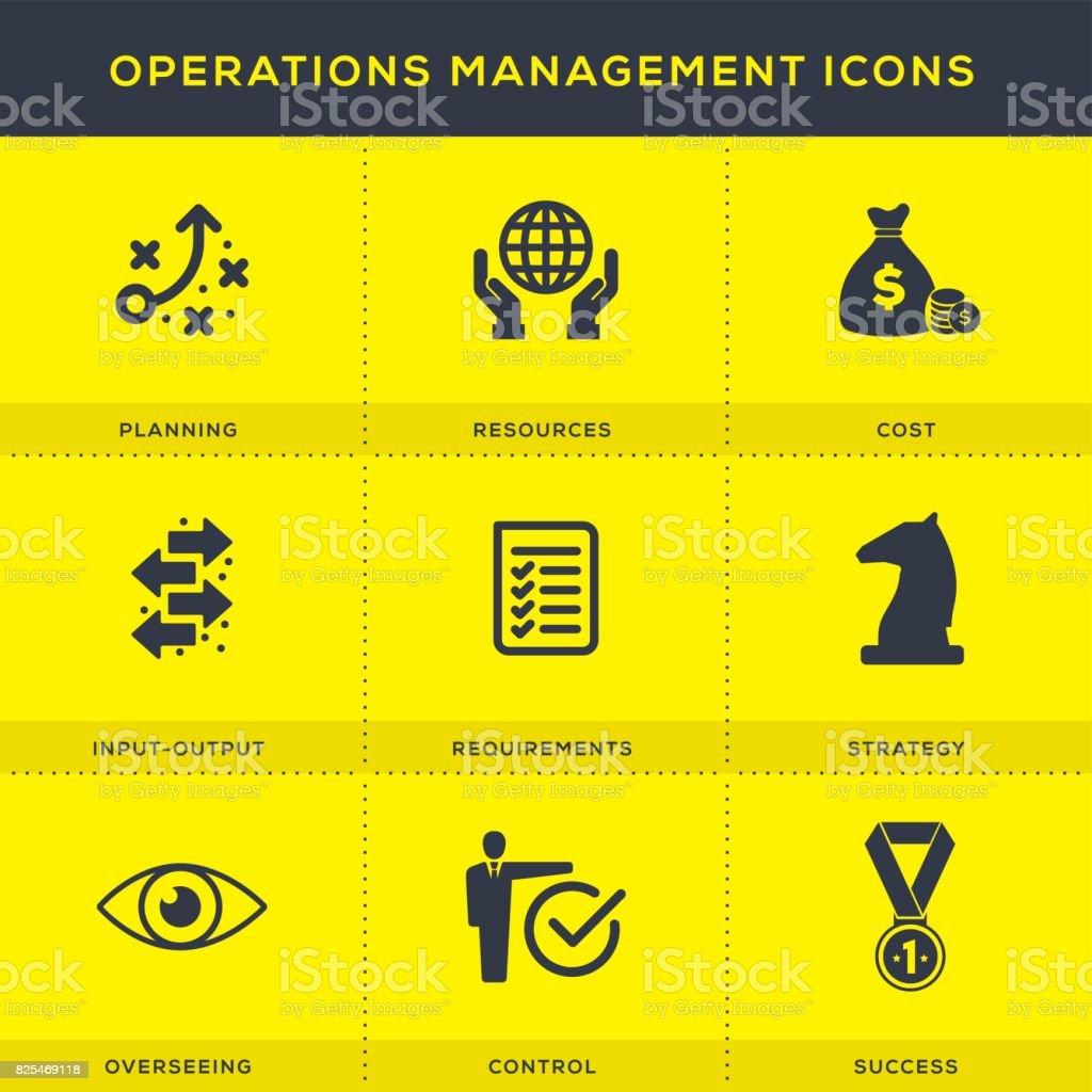 operations management icon set stock vector art  u0026 more images of  u0026 39 at u0026 39  symbol 825469118