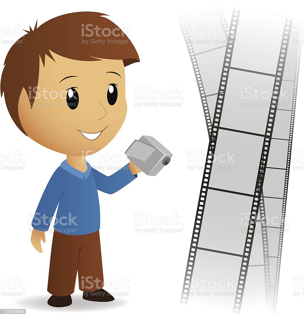 Operator video camera men with film background royalty-free operator video camera men with film background stock vector art & more images of adult