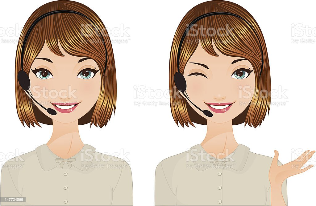 Operator winking royalty-free stock vector art
