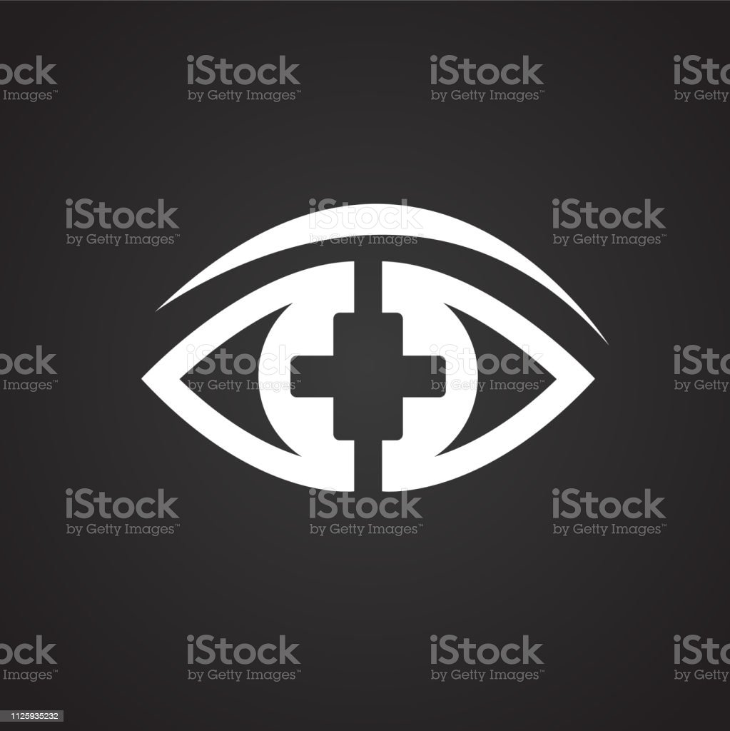 Ophtalmology Eye On Black Background For App Or Web Using Stock Illustration Download Image Now Istock
