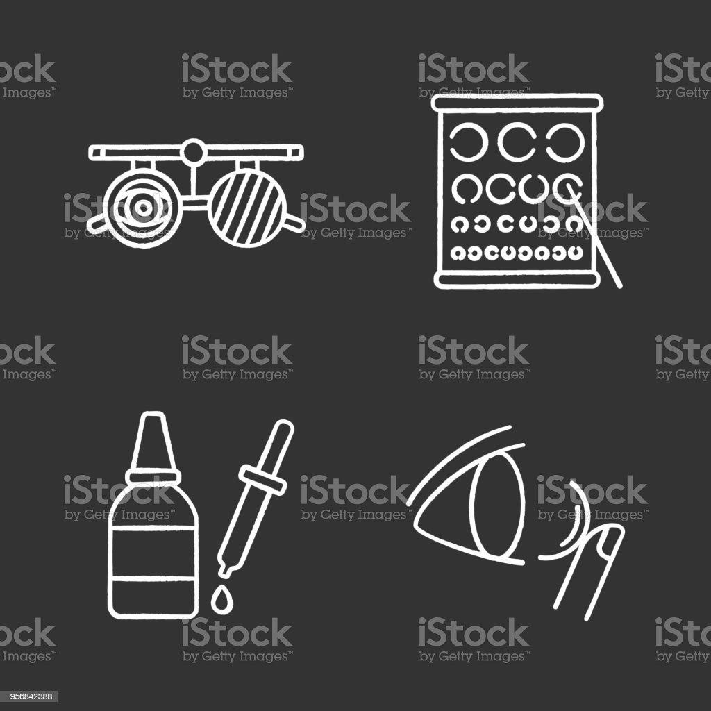 Augenheilkunde-Symbole – Vektorgrafik