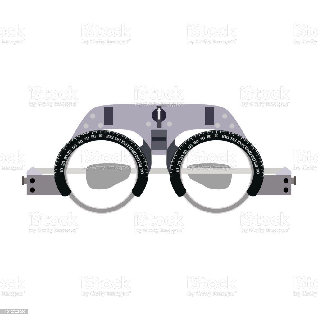 Les verres ophtalmiques pour détection de dioptrie vector illustration  plate les verres ophtalmiques pour détection de d8dace592c25