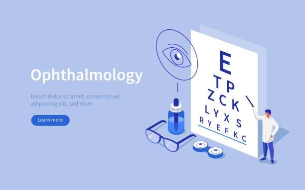 ophthalmology - оптометрия stock illustrations