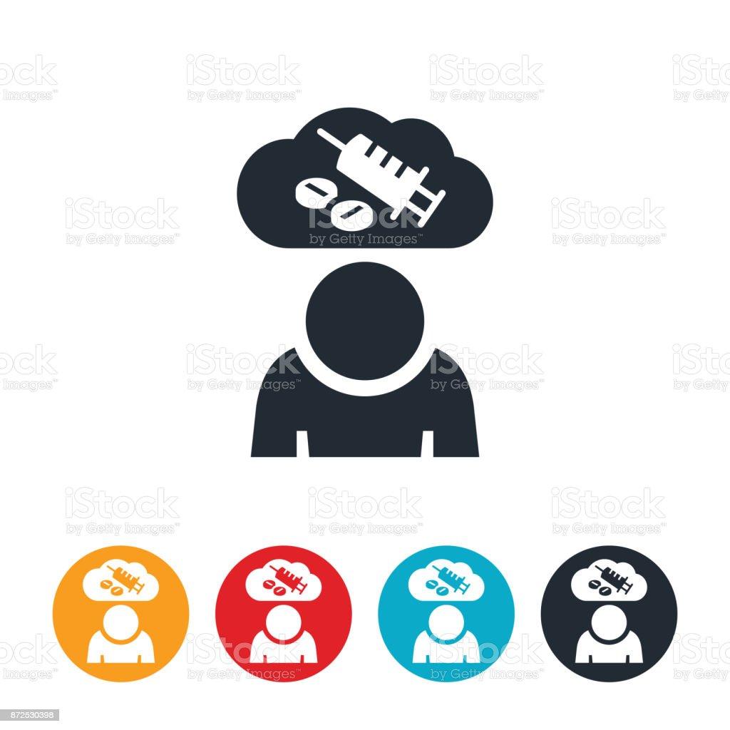 Opioid Addiction Icon vector art illustration