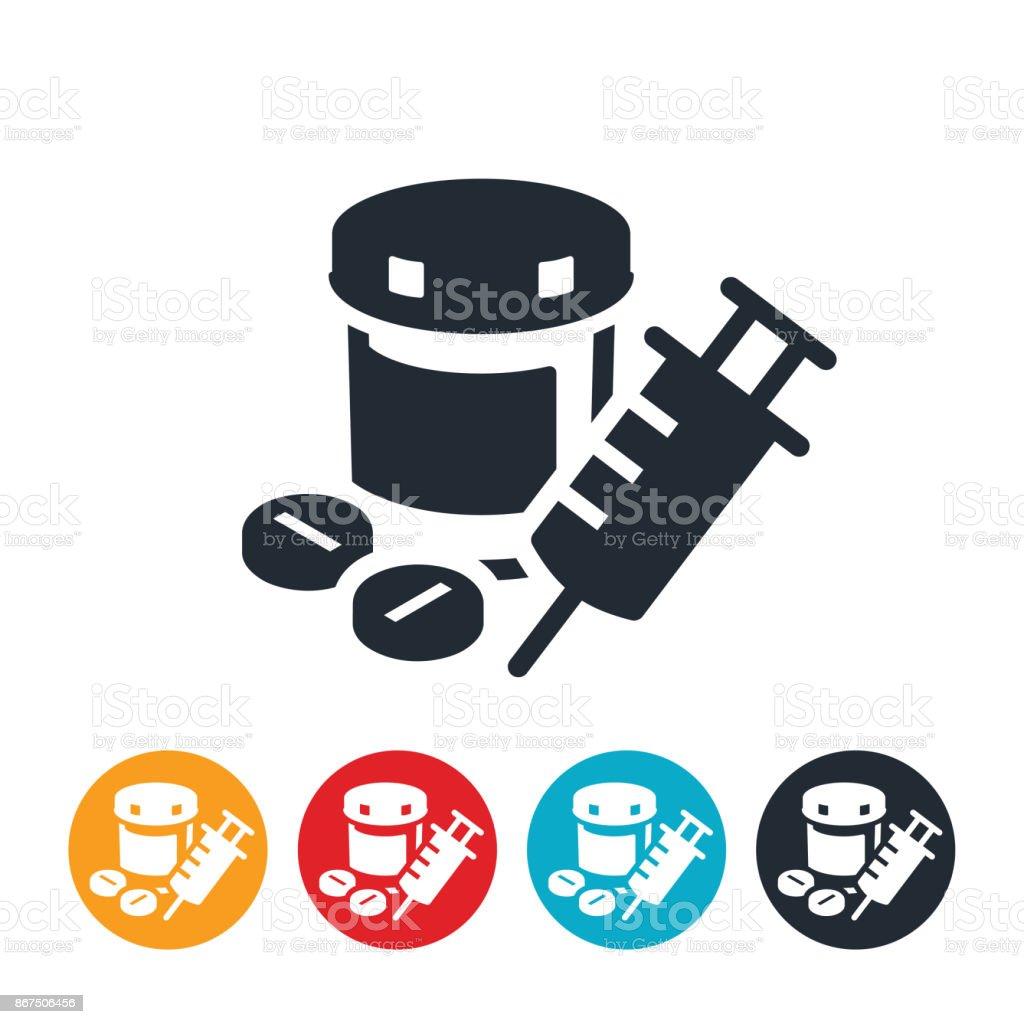 Opioids Icon vector art illustration