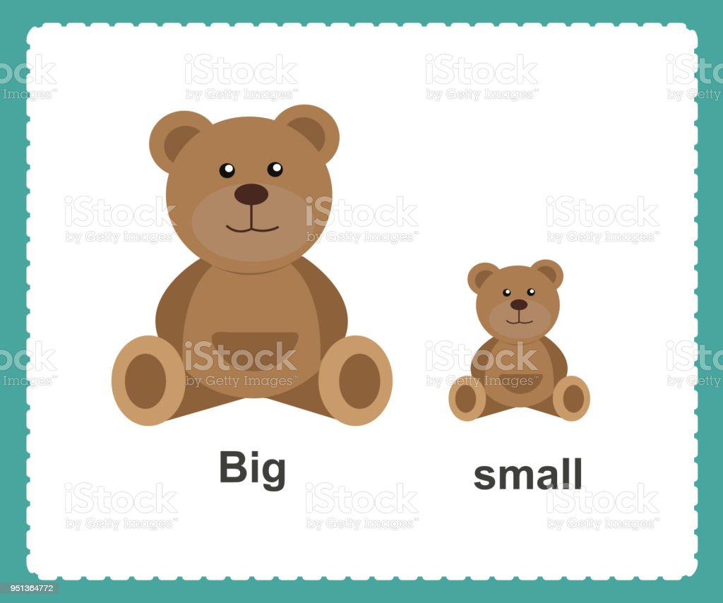 Opposite English Words big and small vector illustration vector art illustration