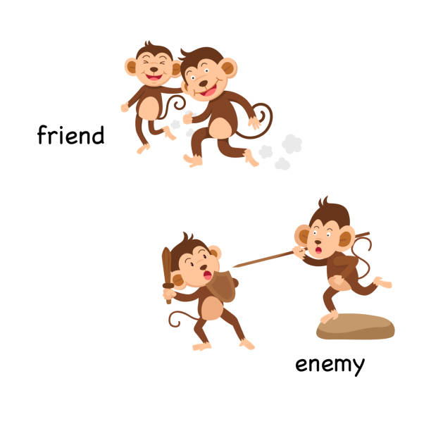 Royalty Free Monkey Fight Clip Art, Vector Images ...