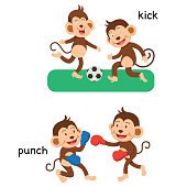 Opposite kick and punch
