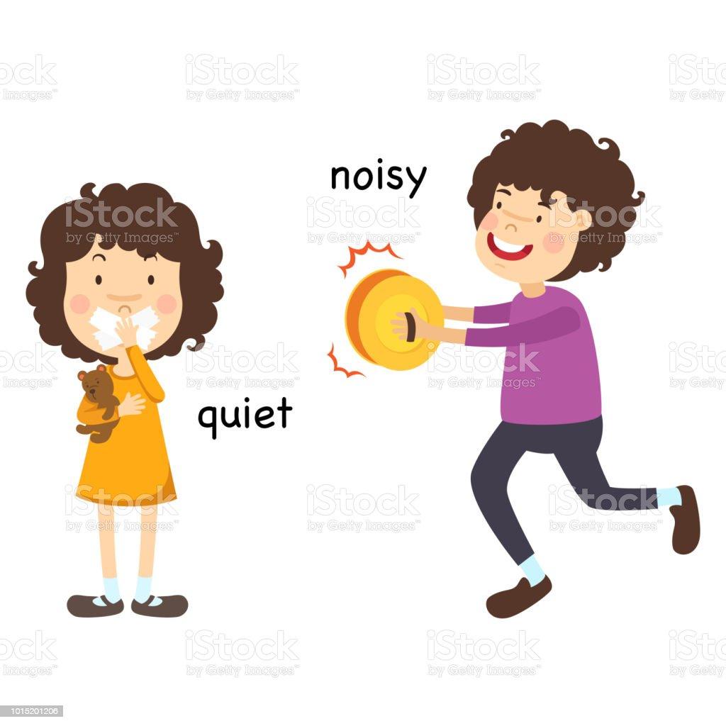 Antonym keep quiet cartoon