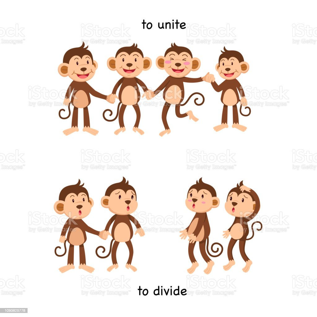 Opposite To Unite And To Divide Stock Illustration - Download ...