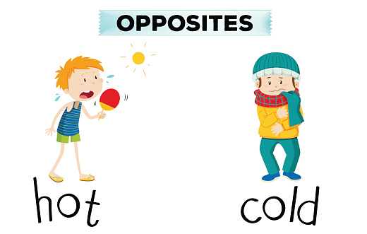 Opposite words for hot and cold