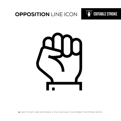 Opposition Editable Stroke Line Icon