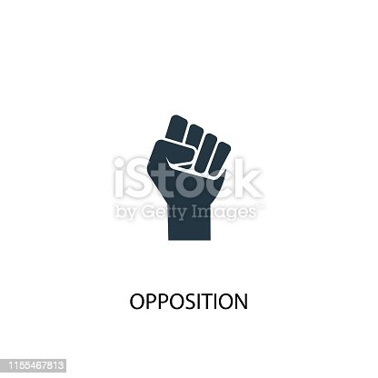Opposition icon. Simple element illustration. Opposition concept symbol design from Elections collection. Can be used for web and mobile.