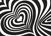 Opt art zebra heart