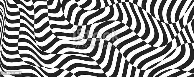 istock Opt illusion background. Optical illusion banner 1249742509