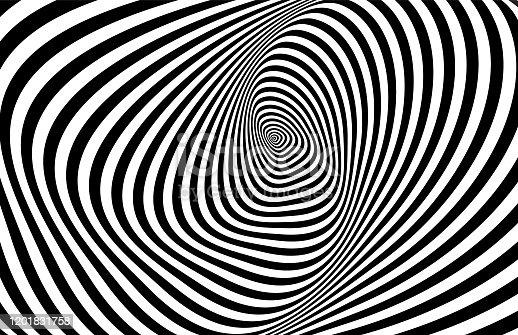 Hypnotic stripes ornament.