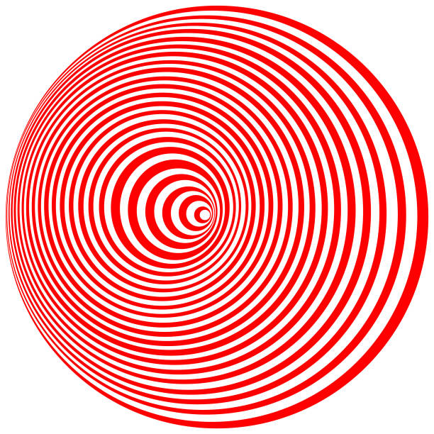 Optical Art. Cover design template vector art illustration