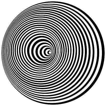 Optical Art. Cover design template