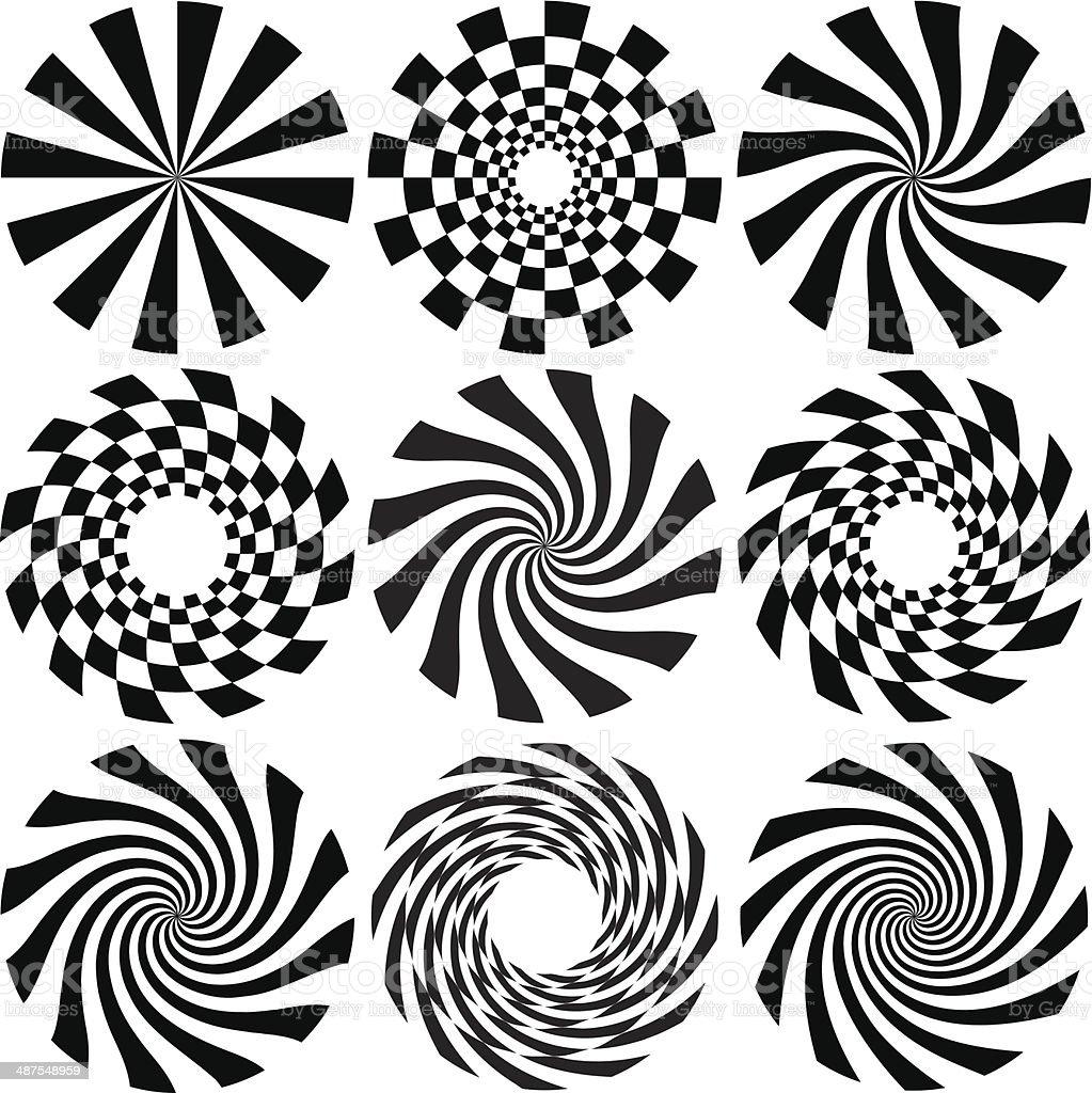 Optical Art vector art illustration