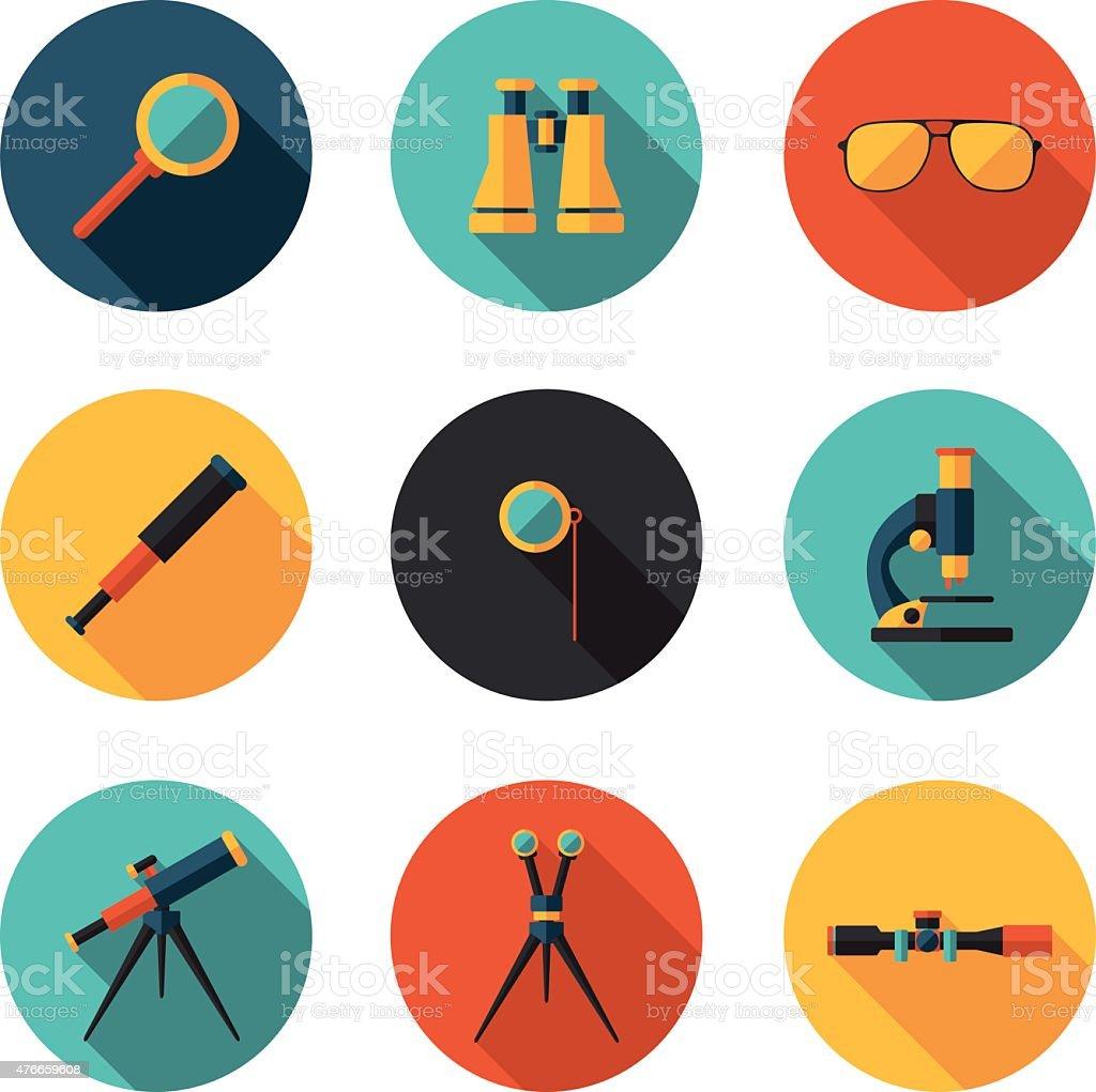 optical devices in vector formatvectorkunst illustratie