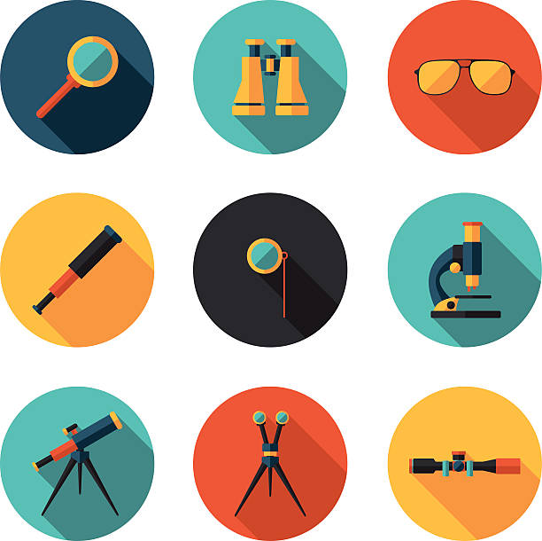 optical devices in vector format vector art illustration
