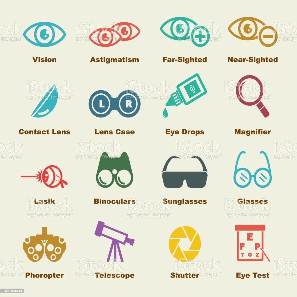 optical elements vector art illustration