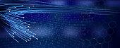 istock Optical Fibers Blue Background 1267560237
