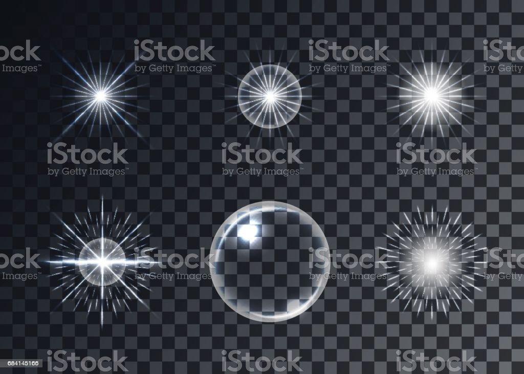 Optical flares vector set, transparent background, templates royaltyfri optical flares vector set transparent background templates-vektorgrafik och fler bilder på abstrakt