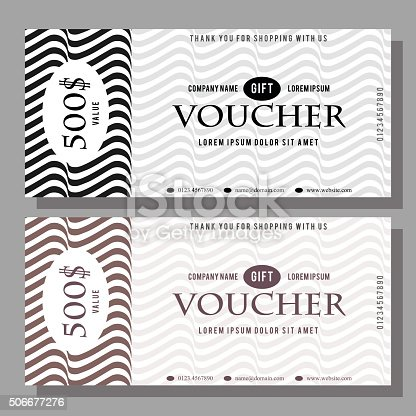 Optical Gift Voucher Template Stock Vector Art & More Images of ...