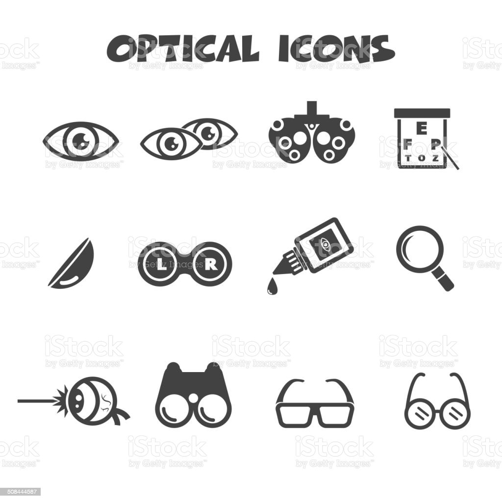 optical icons vector art illustration