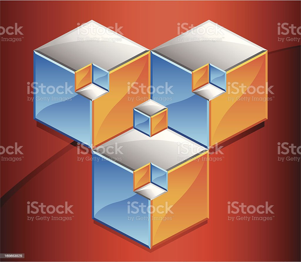 Optical Illusion Cubes royalty-free optical illusion cubes stock vector art & more images of cube shape