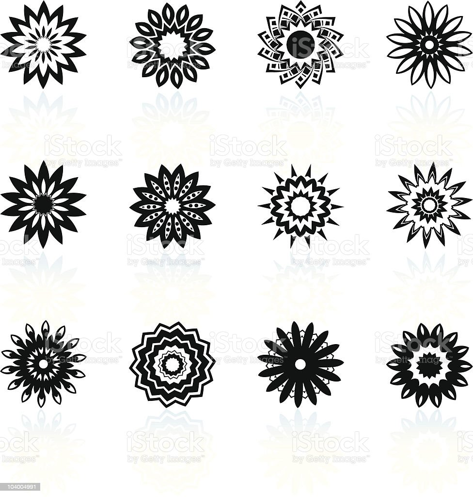 optical illusion floral design collection royalty-free stock vector art