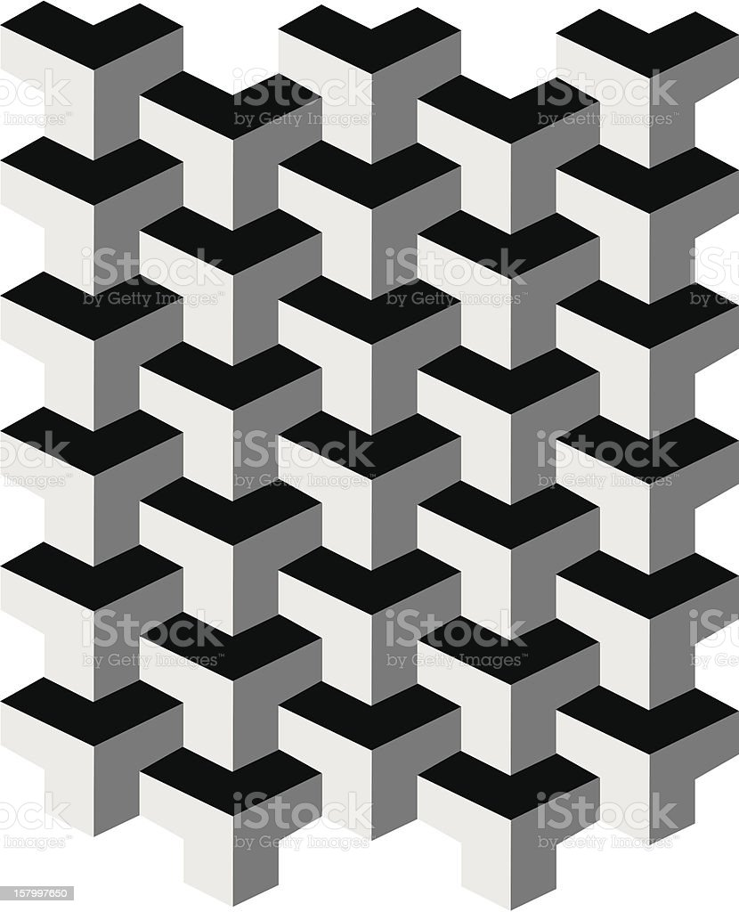 Optical Illusion royalty-free stock vector art