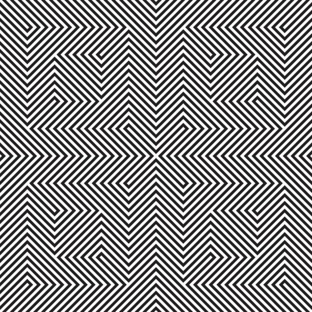 Ilusão ótica - ilustração de arte em vetor