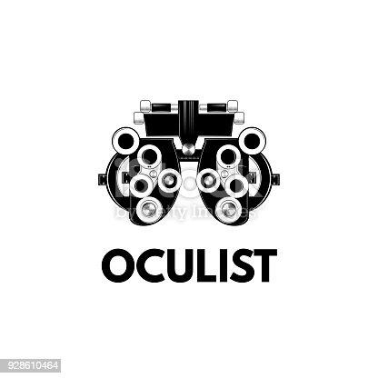 Optical Medical Device Optometry Eyesight Measurement Device Vector