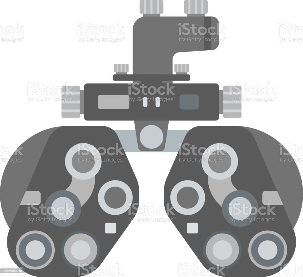 Optical medical device vector art illustration