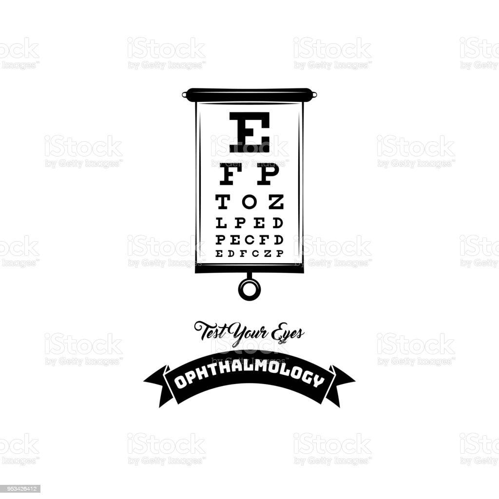 Optical Vision Test Ophthalmology Badge Emblem Label Oculist Symbol