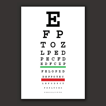 optical vision test vector chart