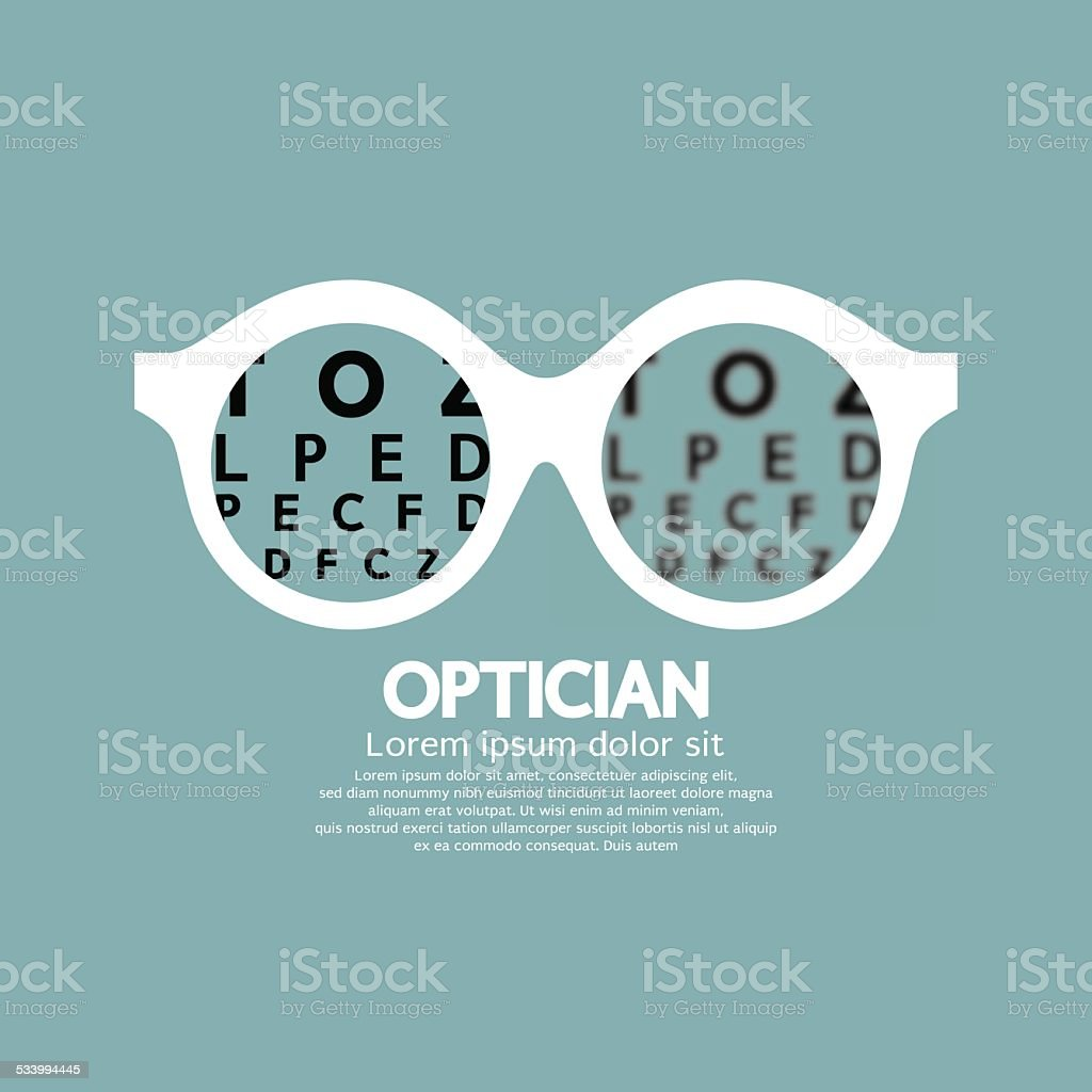 Einen Optiker, eine Vision für Sehkraft – Vektorgrafik