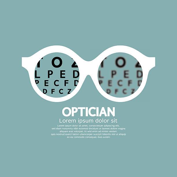 ilustraciones, imágenes clip art, dibujos animados e iconos de stock de óptico, visión de oftalmología - optometrista