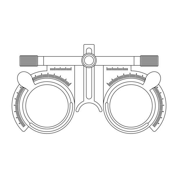 optics and visual acuity - оптометрия stock illustrations