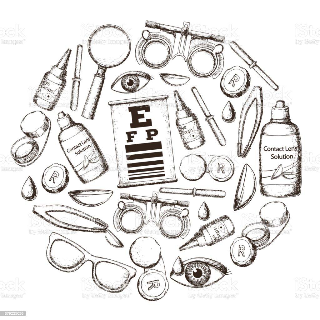 Optik und Sehschärfe – Vektorgrafik
