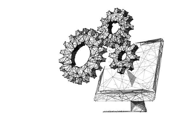 Optimierung lp bw – Vektorgrafik