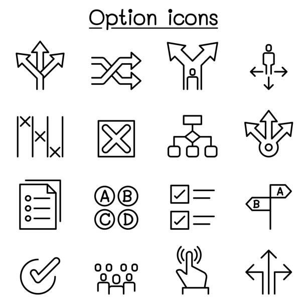 legen sie in dünne linienstil symbol - anleitung konzepte stock-grafiken, -clipart, -cartoons und -symbole