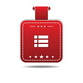 Option Red Vector Icon Design