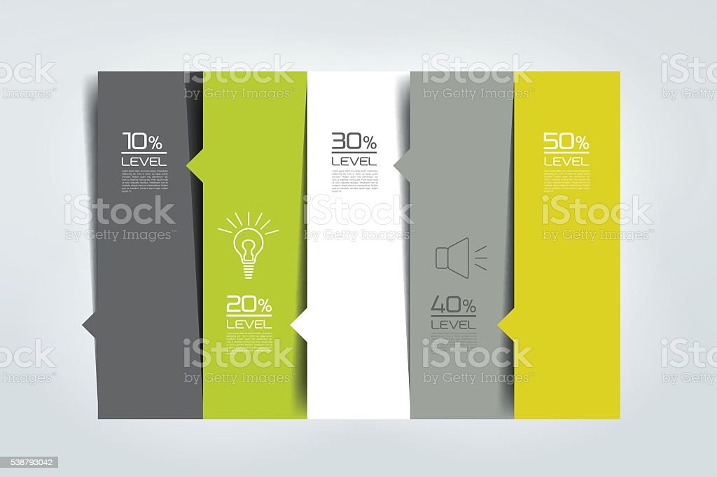 Option template, table, schedule, banner. Step by step infographic. vector art illustration