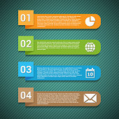 Number options banner with icons. Template for your presentation.