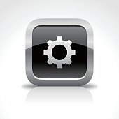 Options Glossy Button Icon