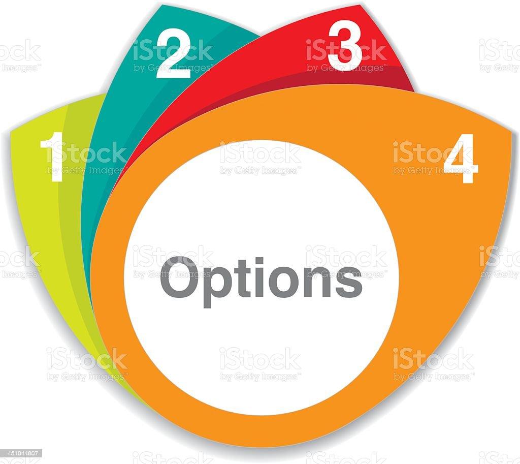 Options x4 royalty-free stock vector art